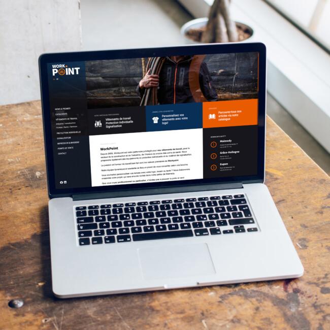 Réalisation sur mesure Wordpress du site web de WorkPoint